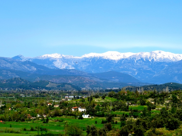 I'm lucky enough to have a villa in Turkey and here's the view from it!